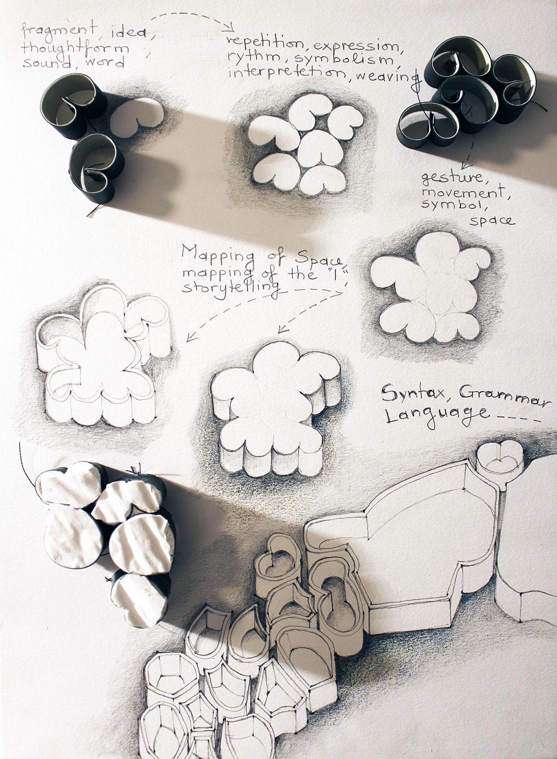 Conceptual sketch - sound/space/language